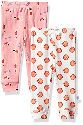 Rosie Pope Baby Newborn 2 Pack Pants (More Options Available), Swimmers/Seashells, 0-3 Months