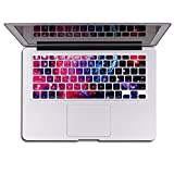 """Herngee Red Univers Macbook keyboard Decal Macbook keyboard Skin cover Keyboard sticker for MacBook Pro 13"""" 15"""" 17"""" (with or without Retina Display)"""