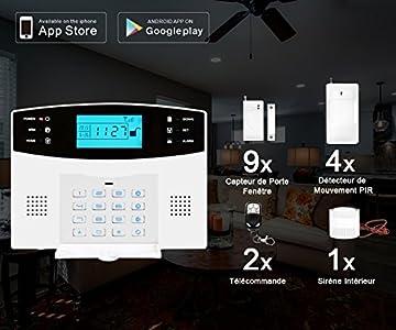 Eray M2b Gsm Alarme Maison Sans Fil Systeme D Alarme Anti Intrusion 433mhz Une Alarme Dissuasive A Fonctionnalites Completes