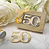 50th Birthday / Anniversary Design Golden Bottle Opener (10) Review