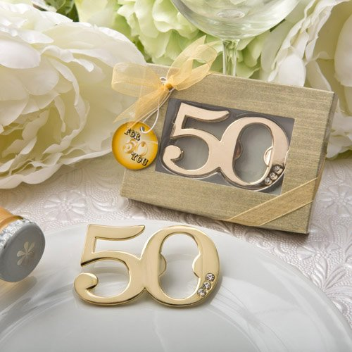 50th Birthday / Anniversary Design Golden Bottle Opener (65) by Fashioncraft (Image #1)
