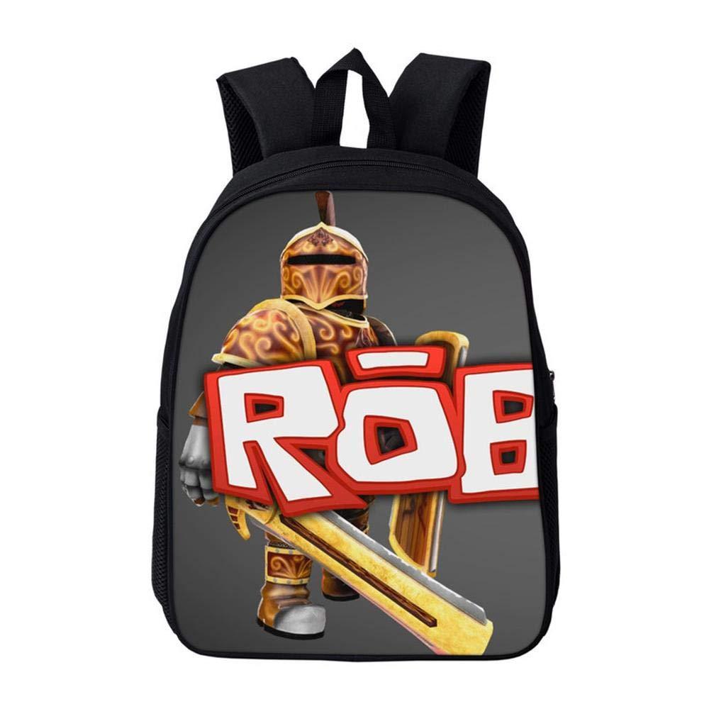 School Bags Mochila Escuela 3D Roblox Patrón De Mochila Grande con Estampado De Dibujos Animados Fresco para Adolescentes K