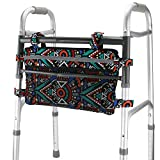 GUOER Walker Bag Suitable for Multiple Walking AIDS Rollator Bag Multi-Size Multiple Colors (9.8Wx15.7L in,Color9810)