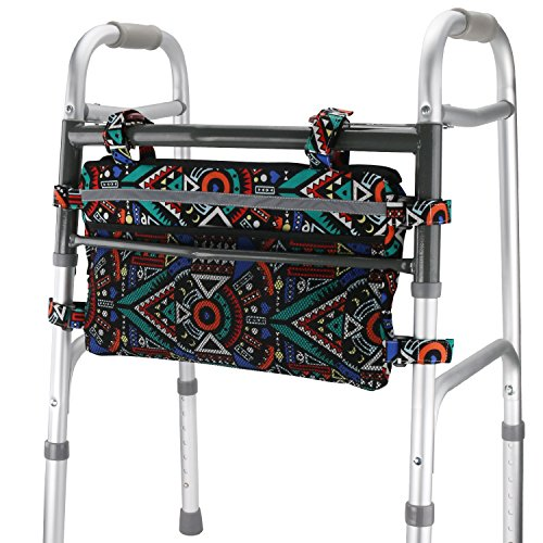 GUOER Walker Bag Suitable for Multiple Walking AIDS Rollator Bag Multi-Size Multiple Colors (9.8Wx15.7L in,Color9810) by GUOER