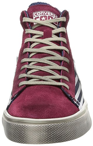 Converse Pro Leather Vulc Mid Can/Su Pr Unisex-Erwachsene halbschuhe Bars/ Maroon ...