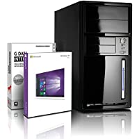 Shinobee PC Unité centrale pour ordinateur de bureau (Processeur AMD A6 5400K 2x3,8GHz - 500Go SATA 3 - AMD Radeon 7540D Graphics - Mémoire RAM 4Go - Windows10 Pro 64 Bits - DVI, VGA - USB 3.0) #5443