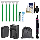 Essential Bundle Sensor Cleaning Kit with NP-FZ100 Battery & Charger Bundle for Sony Alpha A7 III, A7R III, A9 Digital Cameras