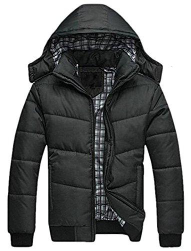 Jackets EKU 3XL Men's Outwear Quilted Winter Coat Hooded Casual US Down Black Bp0qdwpP