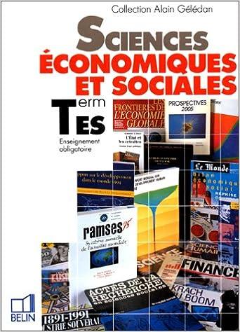 Téléchargement Sciences économiques et sociales Terminale ES pdf ebook