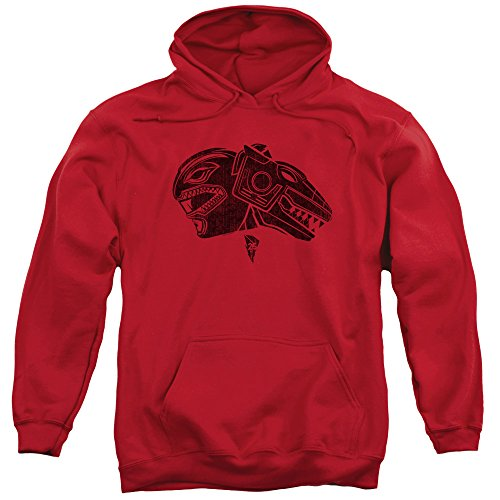 Trevco Power Rangers Red Unisex Adult Pull-Over Hoodie For Men and -