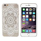 Roodfox Mandala Pattern Flower White Hard Case Skin Cover For iphone6 4.7Inch