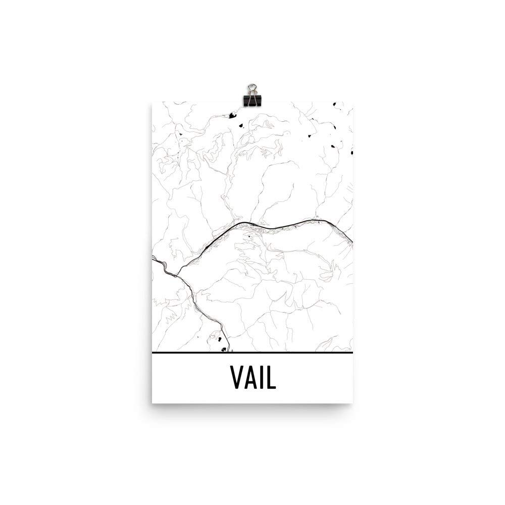 Amazon Com Vail Print Vail Art Vail Map Vail Co Vail Colorado