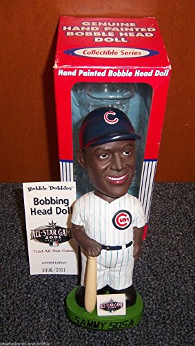 SAMMY SOSA 2001 All Star Game Chicago Cubs BOBBLE BOBBLEHEAD