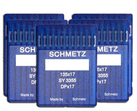 SCHMETZ 50pcs Size 18 20 21 23 24 135x17 DPx17 Walking Foot Sewing Machine Needle by Schmetz