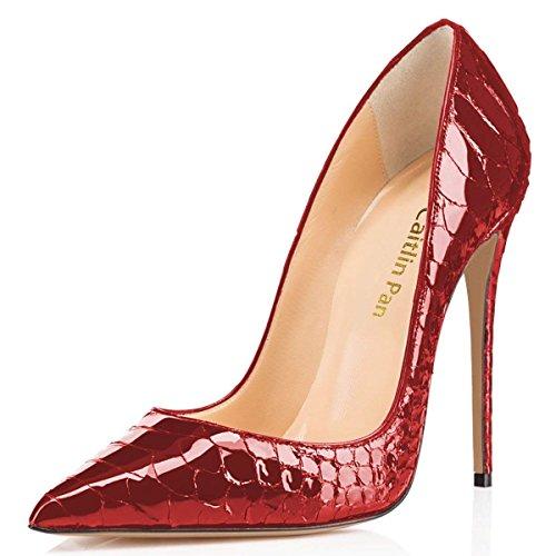 Caitlin à Bout Red Pointu Red Jupe 45 Escarpins Talon Pan Aiguilles Élégantes B0tt0m Scale avec Femmes fish 35 avec EU r8xnrgI