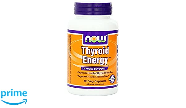 NOW Foods, Energía de la tiroides, ayuda de la tiroides, 90 sombreros del Veggie: Amazon.es: Salud y cuidado personal