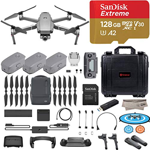 (2018 Version DJI Mavic 2 Zoom Drone Quadcopter with Fly More Combo, 12MP 2X Optical Zoom 1/2.3