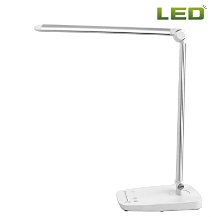 LED Desk Lamp W/ USB Charging Port Dimmable 7 Lighting Modes Adjustable Arm  Touch Panel