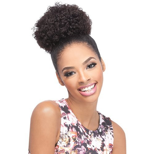 Synthetic Drawstring (Outre Synthetic Drawstring Ponytail Timeless Afro Small (1B))