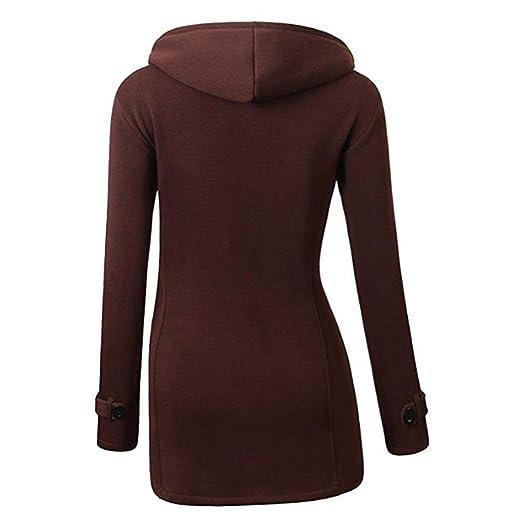 Meihet Chaqueta con capucha y capucha con capucha clásica de mezcla de lana clásica y abrigo de lana de invierno para mujer: Amazon.es: Ropa y accesorios