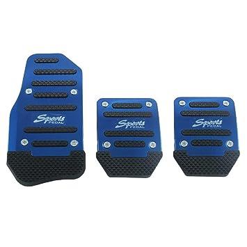 Funda de pedal de freno antideslizante, de aleación de aluminio para coche manual y automático, color azul: Amazon.es: Electrónica