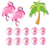 Large Size Flamingo Palm Tree Balloons Set For Baby Shower Birthday Hawaiian Luau Party Flamingo Tropical Theme Party Balloons