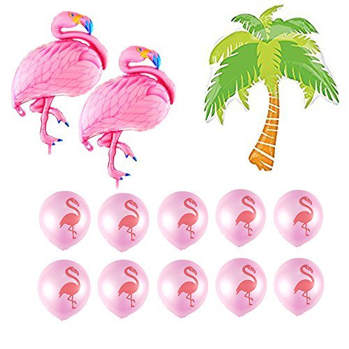 Large Size Flamingo Palm Tree Balloons Set For Baby Shower Birthday Hawaiian Luau Party Flamingo Tropical Theme Party Balloons