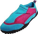 NORTY Little Girls Mesh Waterproof Athletic Aqua Socks for Pool Beach, Turquoise, Fuchsia 39245-2MUSLittleKid