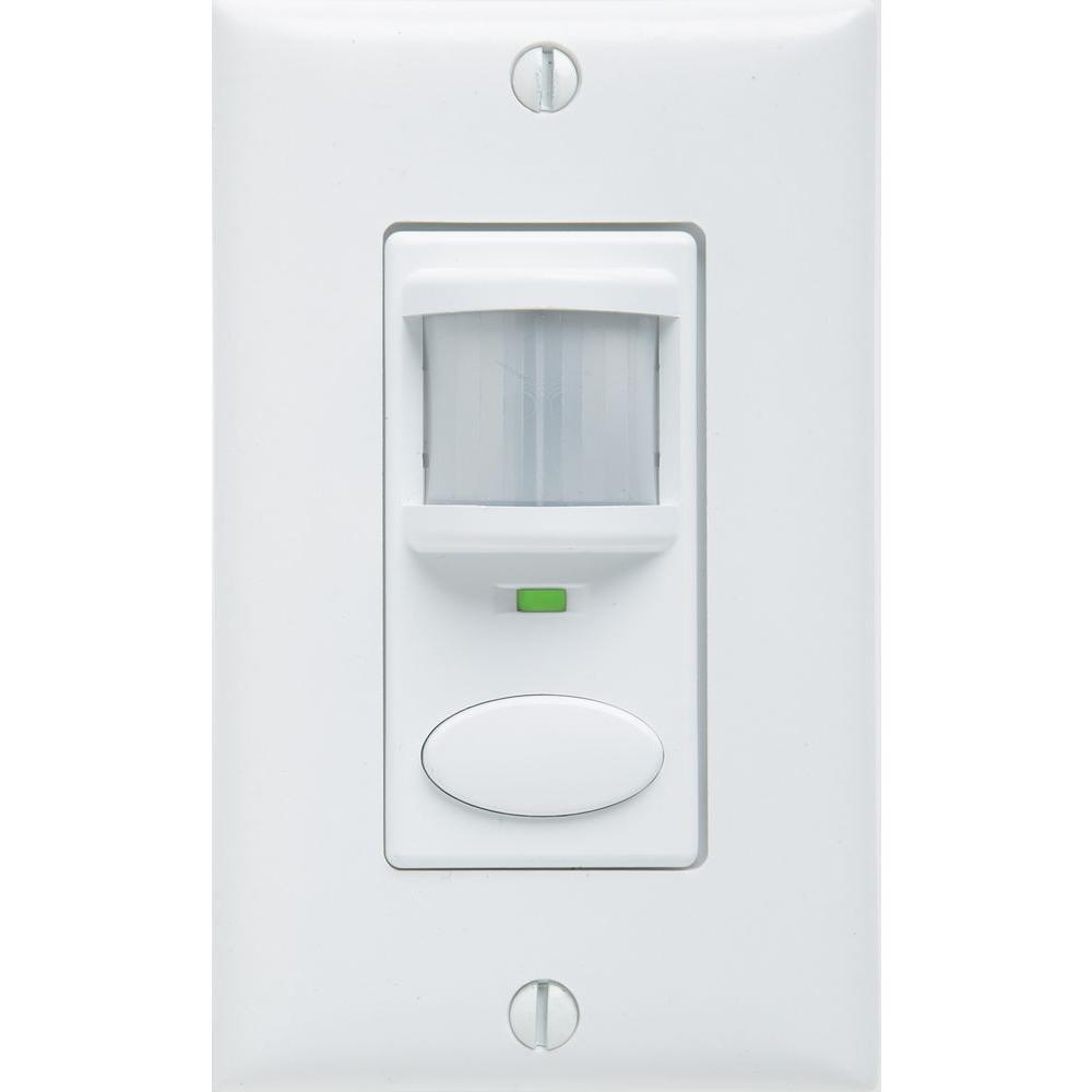 White Sensor Switch SSD VA 120 WH Residential Wall Switch Occupancy Sensor