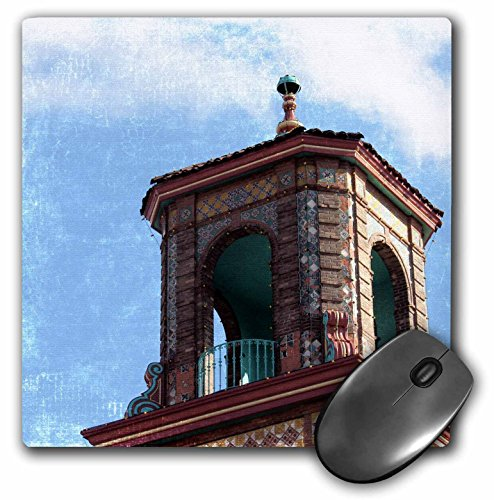 3dRose Cassie Peters Kansas City - A Plaza Building Rooftop Details by Angelandspot - MousePad (mp_130416_1)