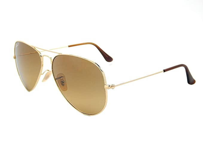 c16dbf4ac0 ... good ray ban aviator rb3025 001 m2 gold crystal brown gradient 58mm polarized  sunglasses 516ac 95771