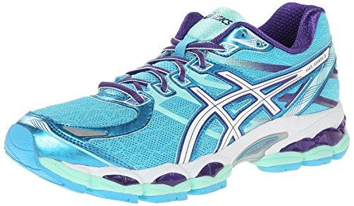 ASICS - Zapatillas de running para mujer GEL Evate 3, Turquoise/White/Purple, 7 M US