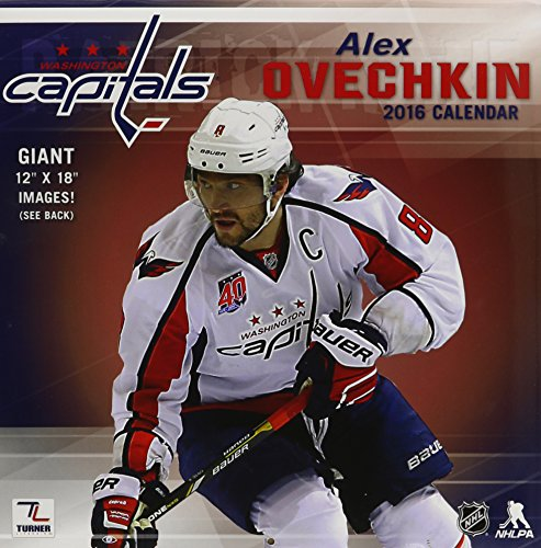 Turner Washington Capitals Alex Ovechkin 2016 Wall Calendar, Sept. 2015-December 2016 (8011793)