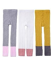 EsTong 3 Pack Baby Girl Footless Leggings Pants Tights Warm Stretchy Stockings