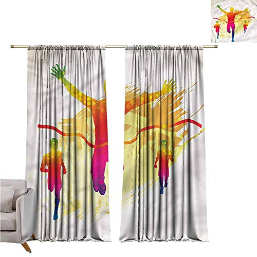zojihouse Olympics Thermal Insulated Blackout Curtainsnfor Bedroom Living Room Nursery 55