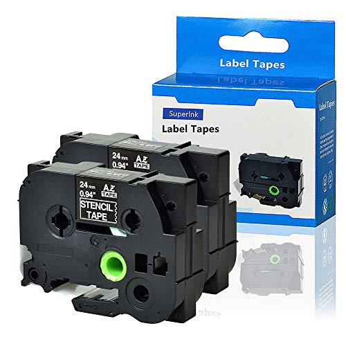 SuperInk 2PK Compatible for Brother ST151 STe151 ST-151 STe-151 Stencil Tape 1