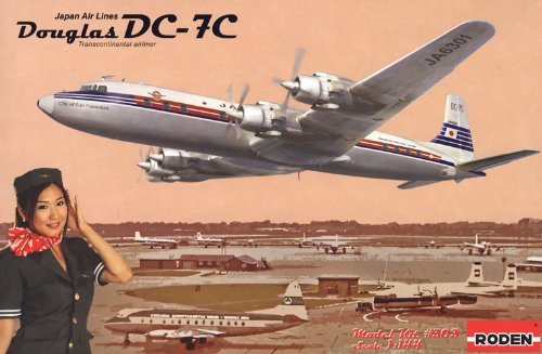 Roden DC-7C Japan Airlines Airplane Model Kit