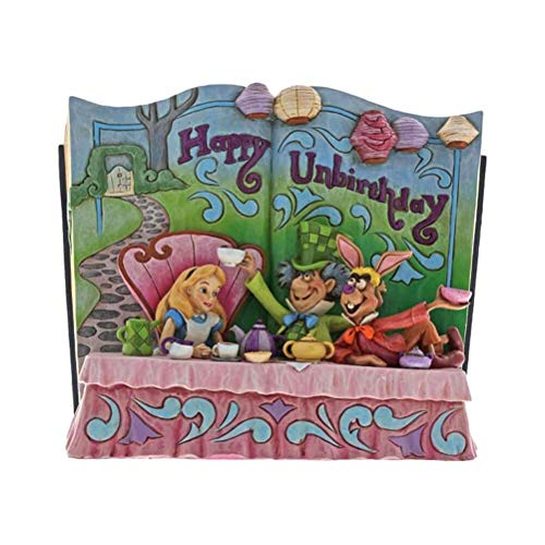 Alice in the Wonderland Disney Traditions Happy Unbirthday Storybook Figurine
