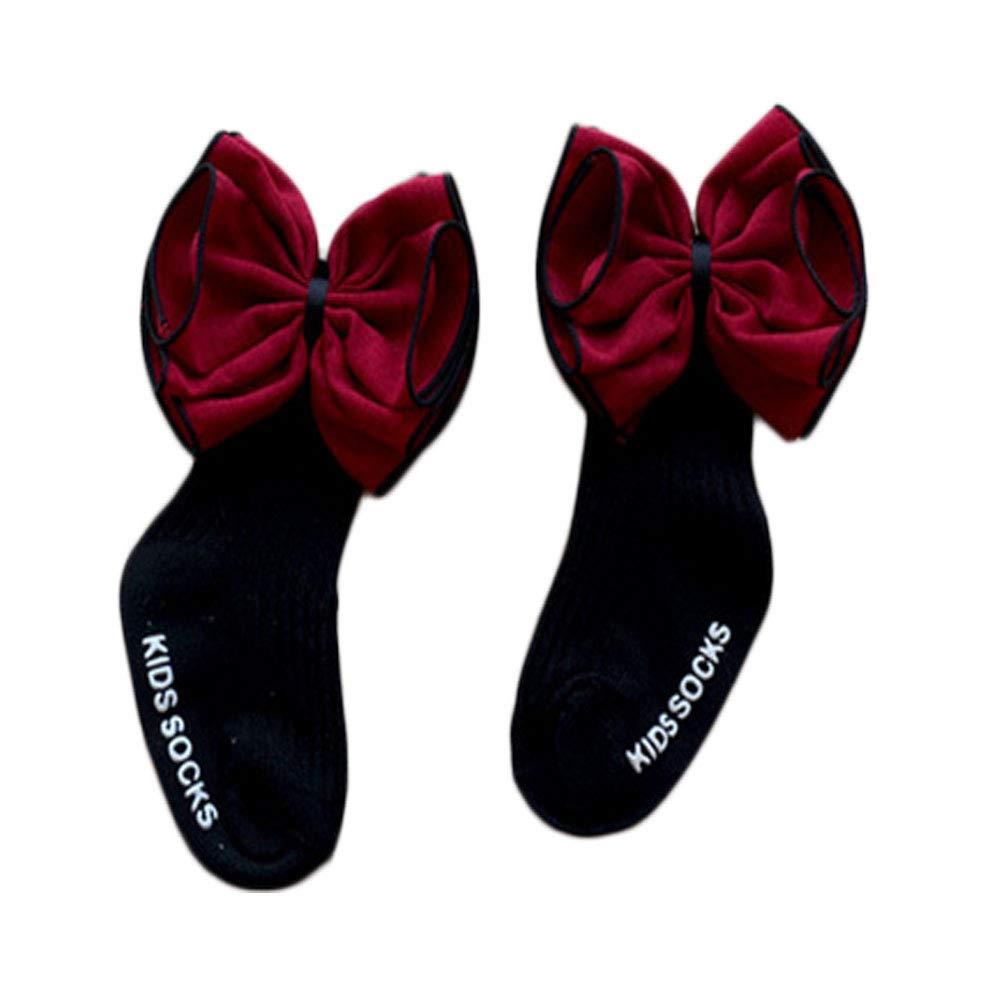 Toddler Kid Baby Girls Princess Socks Baby bowknot Cotton Warm Anti-slip Socks 0-4 Years