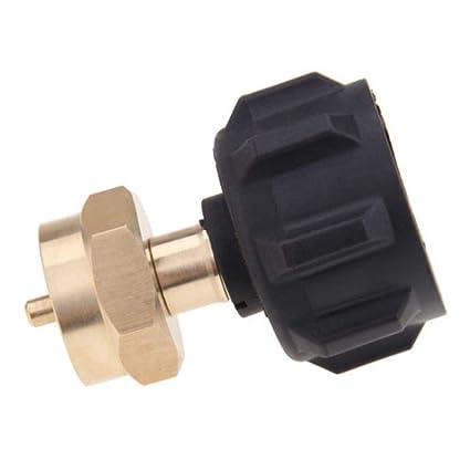 Adaptador 1 lb gas propano Recambio barbacoa estufa regulador camping QCC1 a POL válvula exterior (