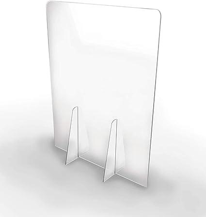 Cosmo led Mampara de metacrilato mostrador 3mm proteccion para oficinas mostradores manicura sobremesa material transparente (65X50): Amazon.es: Oficina y papelería