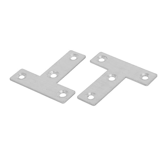 eDealMax 50mmx50mmx1mm T en forma de placas de reparación plana 60pcs junta de esquina sujetador del conector - - Amazon.com