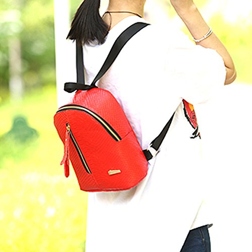 Red Casual Domybest Leather PU School Bag Women Backpack Rucksack Fashion Shoulder Travel ZPqHxwP1F
