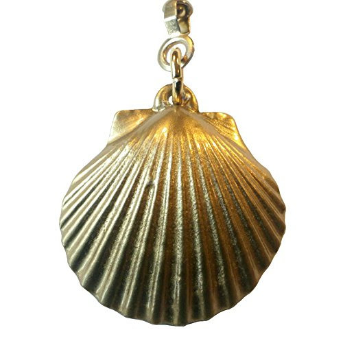 Brass Finished Pewter Seashell Ceiling Fan Pull Chain - Lacquer Finished