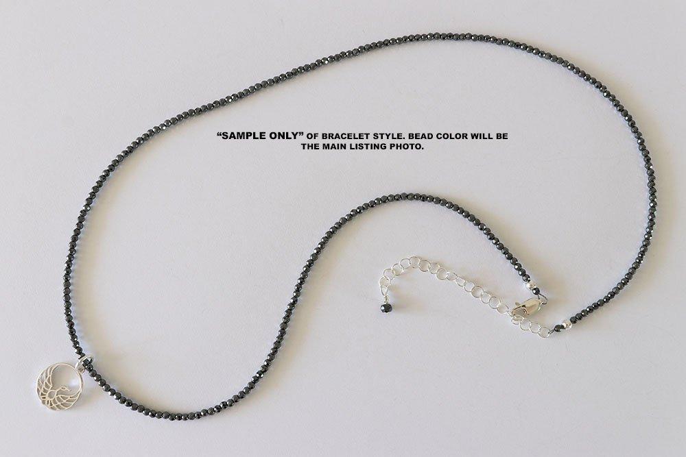 Phoenix Charm on a Teal and Violet Triple Wrap Bracelet Adjustable or Single Necklace