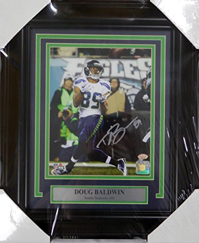 Doug Baldwin Autographed Signed Framed 8x10 Photo Seattle Seahawks - MCS COA (Sports Photographs)