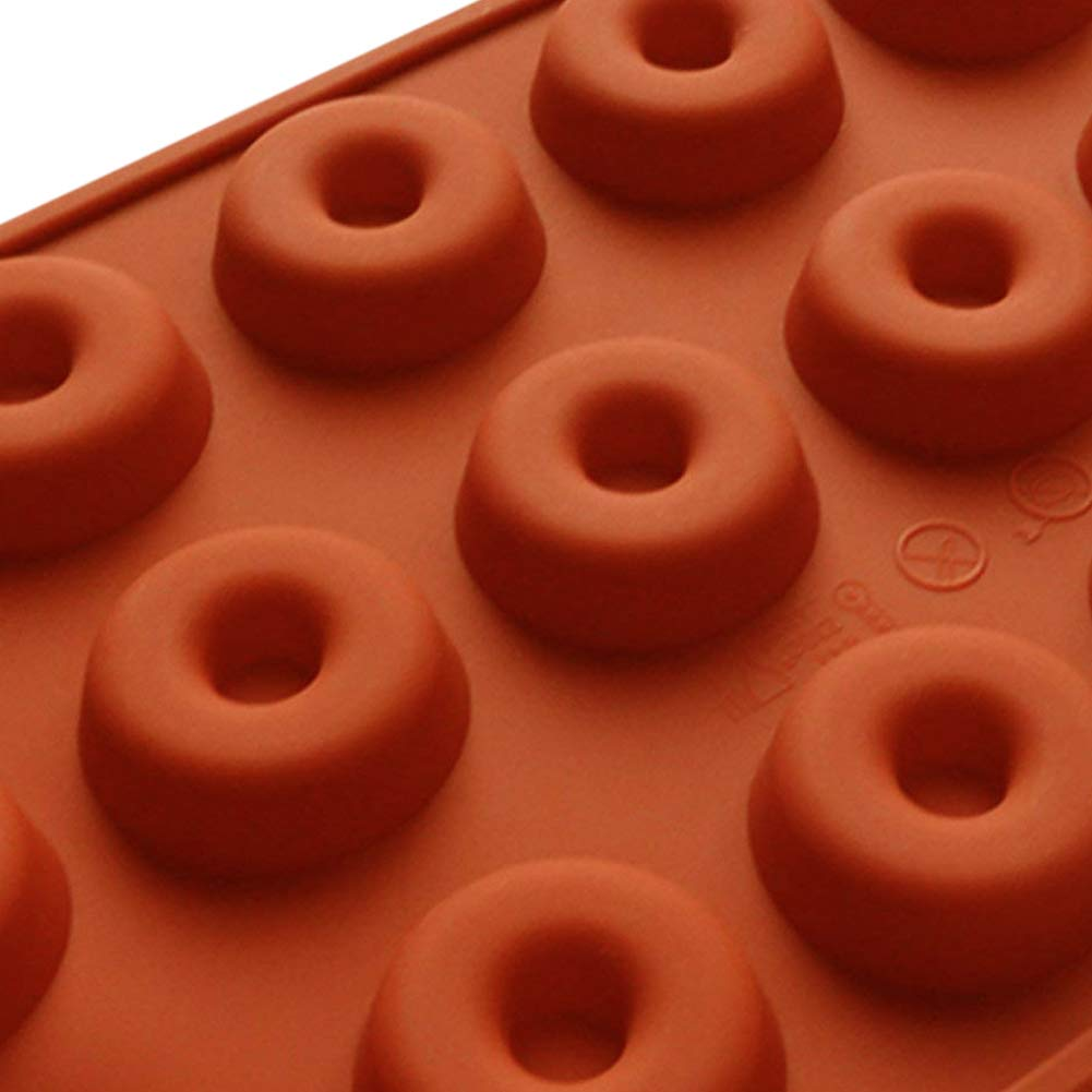 PERNY 18-Cavity Mini Donut Pan, 1.5 Inch Silicone Donut Pan, 2 Pack by PERNY (Image #6)