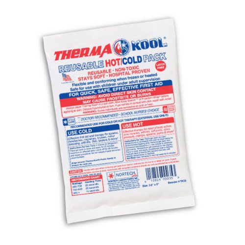 Therma-Kool Reusable Hot Cold Gel Pack, 3.5'' x 5'' (Mini / Face) - 125/Case by Therma-Kool