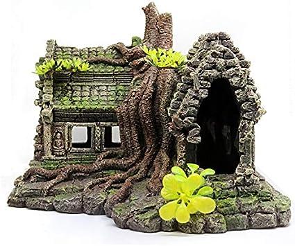 Cobeky resina imitación de madera de la raíz de la casa de