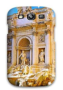 Durable Protector Case Cover With Fontana Di Trevi Rome Italy Hot Design For Galaxy S3